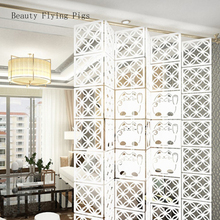 12 sztuk 29cm X 29cm dekoracji wnętrz mody ażurowy wzór wiszący parawan ścianka działowa pokój dekoracji wnętrz biały tanie tanio Beauty Flying Pigs Sztuczne dekoracyjne pokładzie Konstrukcja ramy Nowoczesne