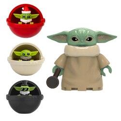 Star wars natal bebê yodas despertar robô modelo figura blocos construção tijolos brinquedos para crianças