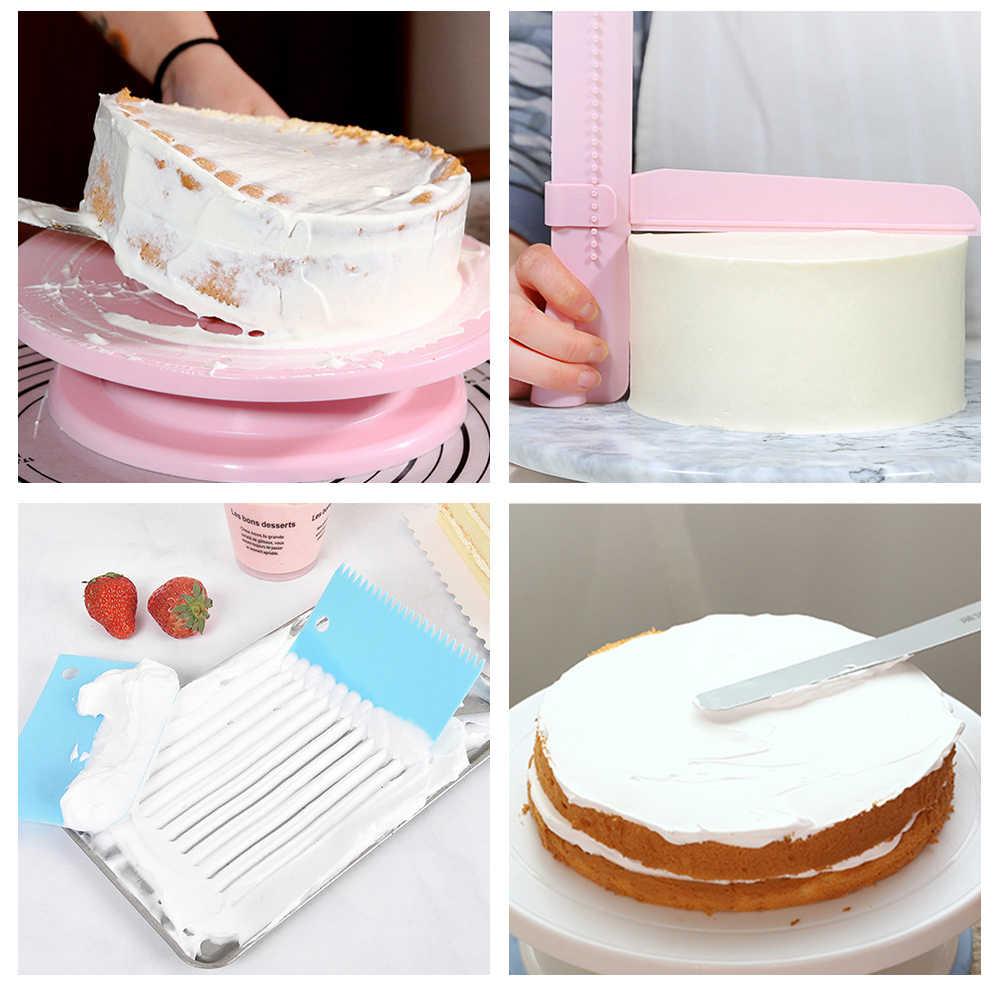Plastic DIY Cream Console Rotary Table Cake Turntable Rotating Decorating Platform Cake Mould Baking Tools