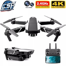 2021 nowy S62 Drone 4K HD podwójny aparat wizualne pozycjonowanie 1080P WiFi Fpv składana czteroosiowa wysokość utrzymanie zdalnie sterowany Quadcopter Dron zabawka tanie tanio CEVENNESFE CN (pochodzenie) 150m 4K UHD Mode2 6 kanałów 12 + y Oryginalne pudełko Z tworzywa sztucznego 3*AA Wewnątrz i na zewnątrz