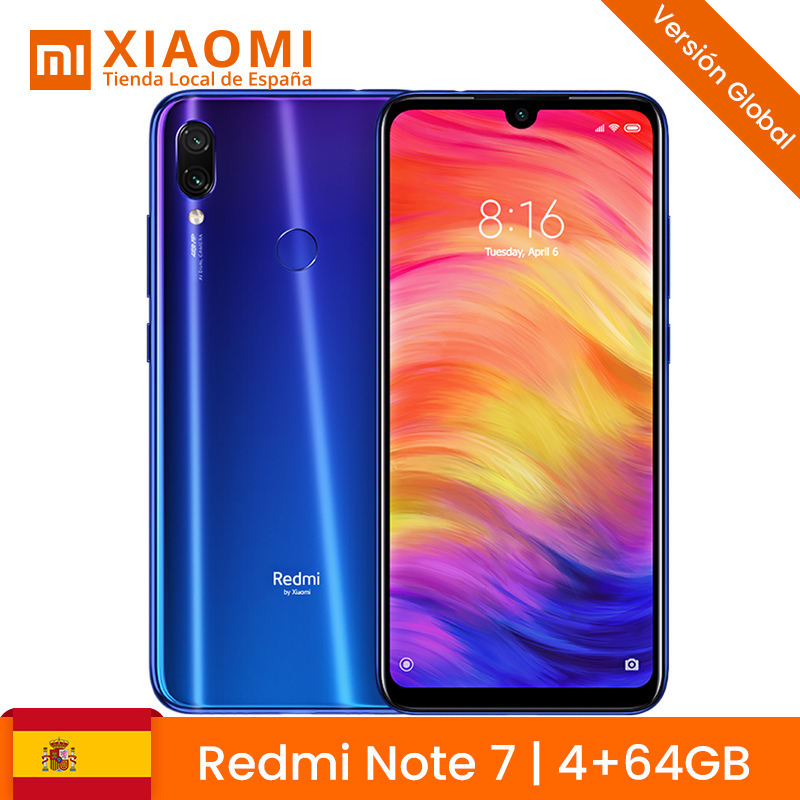 Global Version Xiaomi Redmi Note 7 4GB <font><b>64GB</b></font> <font><b>Smartphone</b></font> Snapdragon 660 Octa Core 4000mAh 2340 x 1080 48MP Dual Camera Cellphone image