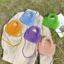 Tobo 2021 nova moda frisada artesanal bolsa de ombro à beira-mar vocação designer bolsa beading sólida crossbody sacos para a mulher