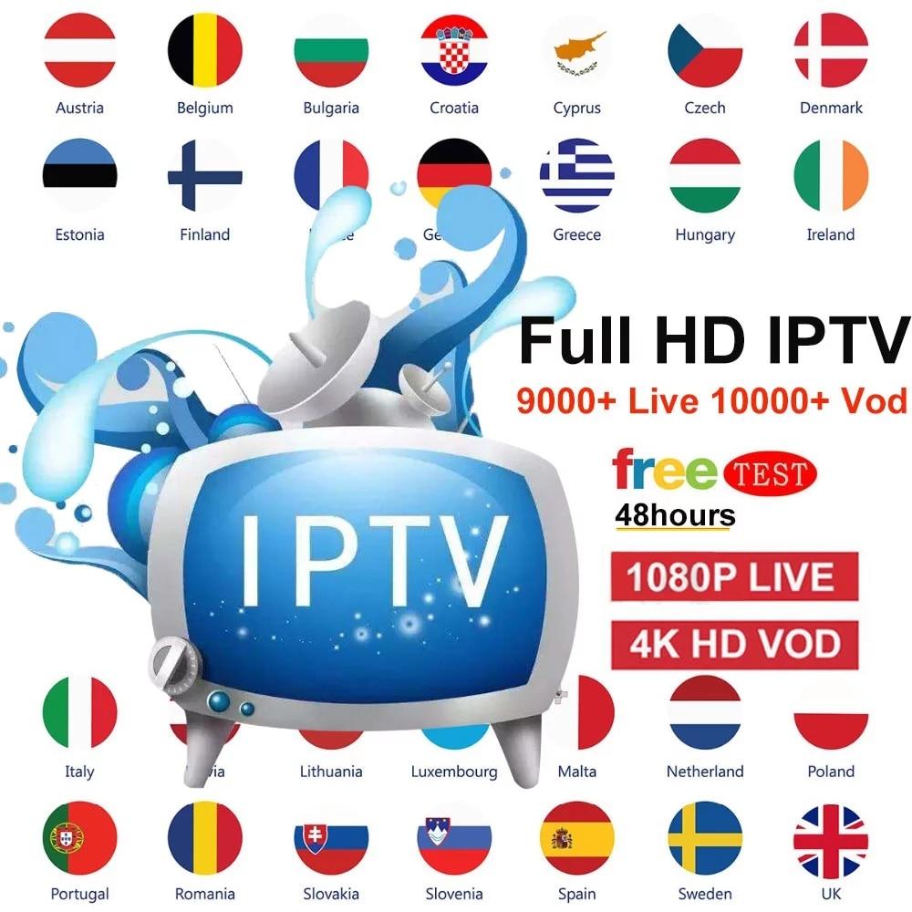 World IPTV Subscription DAZN Live Tv Box European Sweden Arabic Brazil Spain Brazil Portugal USA UK Support For Smart TV M3U MA9