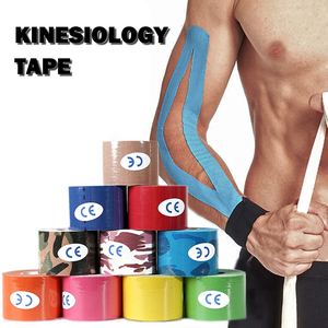 Kinesiology Tape Sport Athletics Elastic Knee Brace Support Elbow Protector Pad Volleyball Bandage Kinesio Fixer tape Wristbands