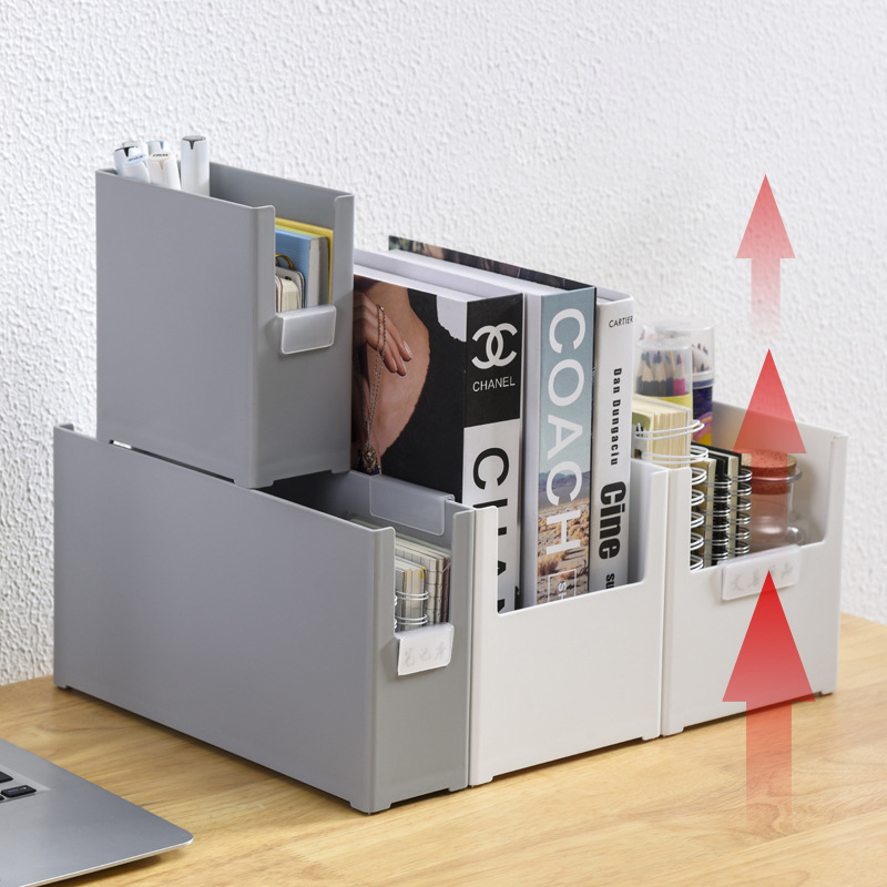 Multifunctional Desk Organizer Stackable Stationery Organizer Book Holder Home File Storage School Supplies Office Accessories