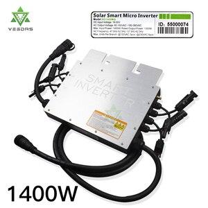 1400 Вт микро Инвертор солнечной энергии со слежением за максимальной точкой мощности на 24/36/48V сетки галстук инвертора инверсор для 110V 220V сет...