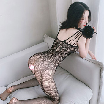 Women Sexy Fishnet Lingerie Underwear Chemises Catsuit Product Teddies Erotic Catsuit Cosplay Sex Clothes Plus Size Clothing image