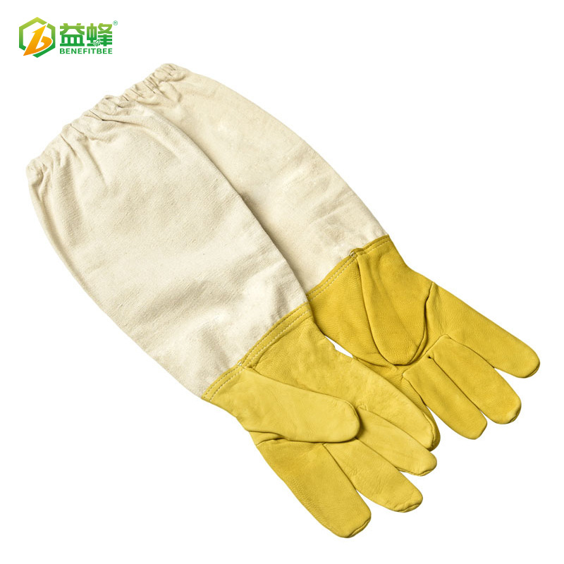 Gold-Tone Xiao Zhu Pi Beekeeping Gloves Anti-Bee Anti-Sting Stab-Resistant Cut Resistant Gloves Manufacturers Direct Selling Bee