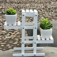 1pcs Flower Stand Wooden Decorative Flower Rack Holder Balcony Indoor Bonsai Outdoor Flower Stands Garden Decor   White|Plant Cages & Supports|Home & Garden -