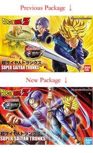 """Image 2 - Anime """"Dragon topu Z"""" orijinal BANDAI şekil katlı standart montaj aksiyon figürü süper Saiyan sandıklar"""