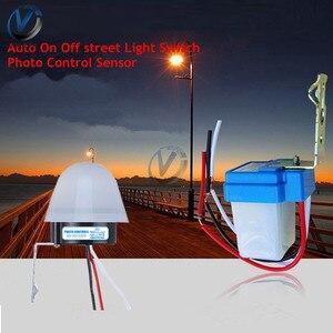 AS-10 AS-20 водонепроницаемый фотоэлемент переключатель уличного света AC/DC 12V 24V 110V 220V 10A Регулируемый чувствительный автоматический выключател...