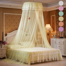 New Princess Hung Dome Mosquito Net Single-Door Decoration Butterfly Nordic Modern Home Decor Solid Color Twin Full Queen D30