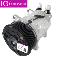For Auto AC Compressor TM16 TM15 Air Conditioning Compressor With Pulley 12V 24V AS YOUR REQUEST for volvo car 7h15 air conditioner compressor pump with pulley 11104419 11412632 15082742