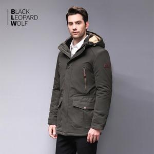 Image 3 - Blackleopardwolf 2019 winter jacket men fashion coat thick Alaska parka men  Windproof Detachable cotton outwear  BL 6607