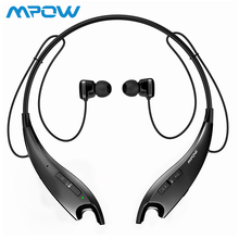 купить Hot New Mpow Jaws Bluetooth Headphones Wireless Earphones Neckband Headset Hands-free Calling Earbuds With Mic for iPhone X/7/8 дешево