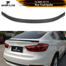 Carbon Fiber / FRP Rear Trunk Spoiler Lip Wing Boot Lip for BMW X6 F16 2015 2016 2017 Rear Trunk Spoiler Boot Lip Wing