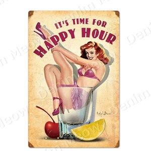Пришло время для Happy Hour винтажные металлические вывески для мужчин, пещера, настенный постер для паба, клуба, кафе, домашний декор, наклейки д...