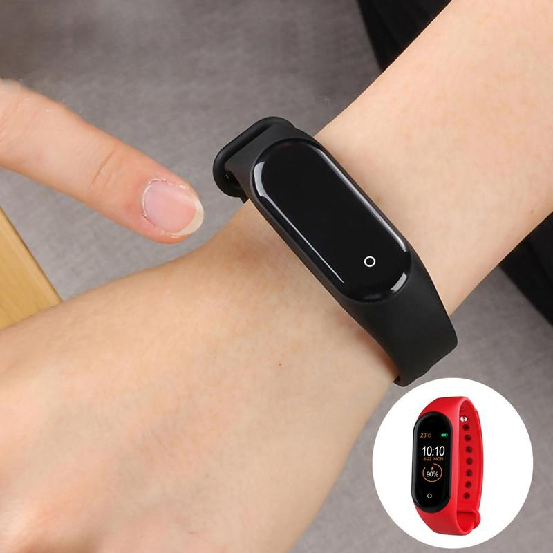 M4 Smart Band Wristband Health Heart Rate Blood Pressure Rate Monitor Pedometer Sports Bracelet Pk M3 Fitness Bracelet 3 Colors