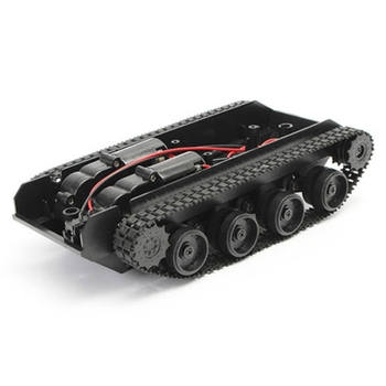 Battery Powered Tank Robot Chassis Kit with 4 Control Channels Made with Plastic
