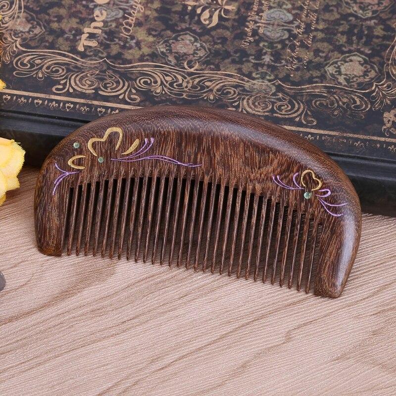 artesanal de madeira natural esculpida sandalo pentes 02