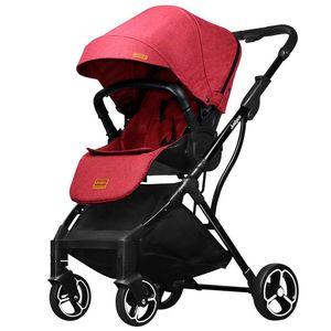 Image 2 - 2019 novo confortável de duas vias cor pura carrinho de bebê simples pára sol dobrável carrinho de bebê