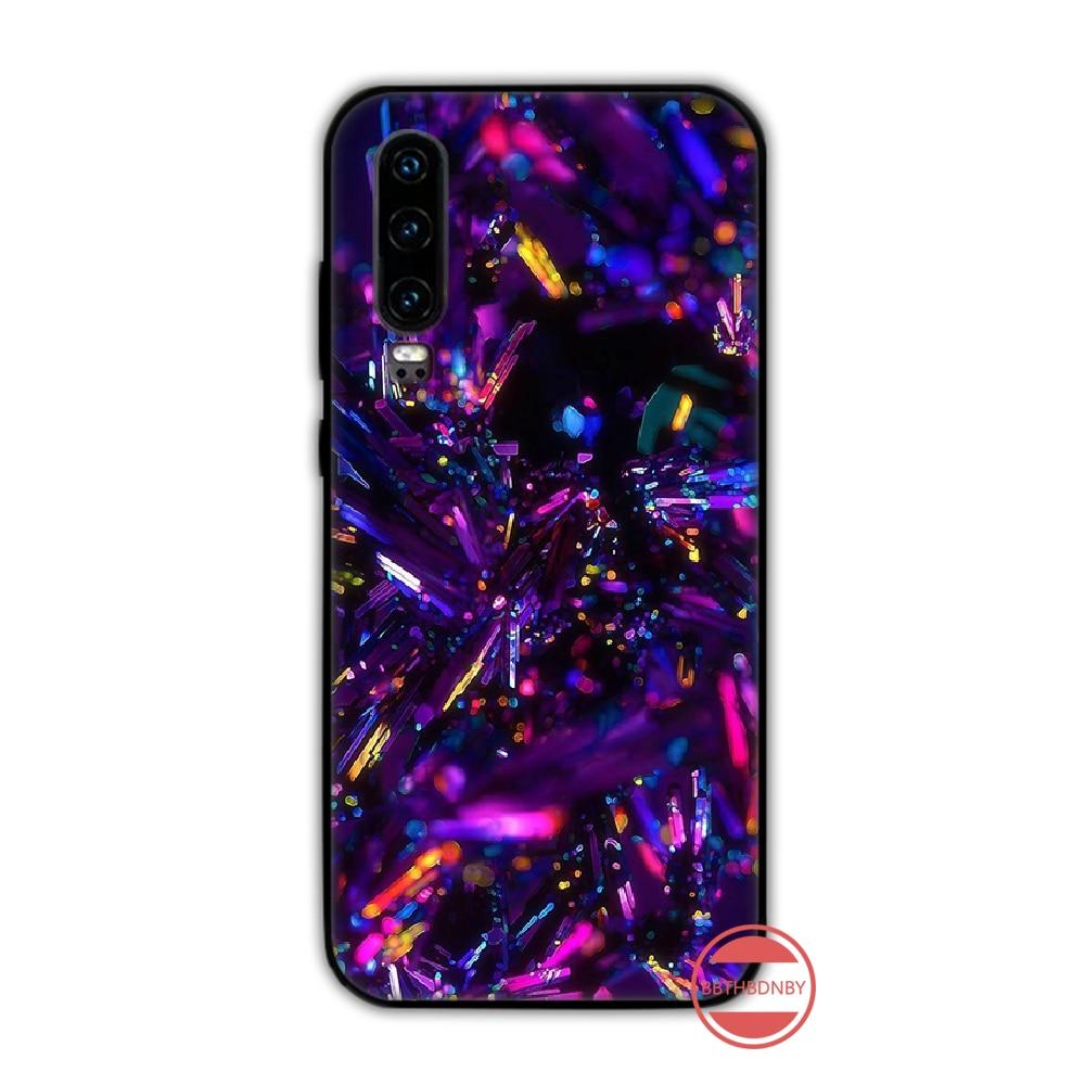 Holographische Prisma Laser Abdeckung Spiegel Schwarz Handy Fall Funda Für Huawei P9 P10 P20 P30 Lite 2016 2017 2019 plus pro P smart