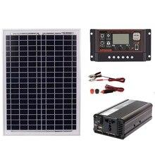 18 в 20 Вт солнечная панель+ 12 В/24 В контроллер+ 1500 Вт Инвертор Ac220V комплект, подходит для наружного и домашнего использования Ac220V Солнечная энергосберегающая
