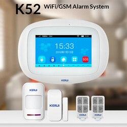 CORINA K52 WIFI GSM Alarm Systemen Panel 4.3 Inch Tft-kleurendisplay Beveiliging Thuis Smart Residentiële Draadloze Alarmsysteem Kit