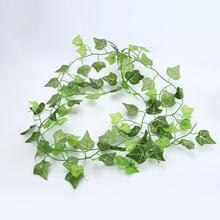 Newborn Baby Floral Photography Backdrops Plastic Silk cloth Artificial Ivy Green Vine Leaf Garland Birthday Decoration Prop