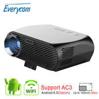Everycom GP100 3500 lúmenes Proyector LED Full HD WiFi Android 4K Video Proyector opción Android WiFi inteligente Proyector de cine en casa