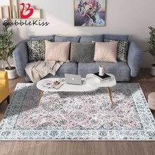 Bolha beijo tapete quarto decoração área tapete para sala de estar casa vintage floral padrão rosa antiderrapante tapetes anti-rugas