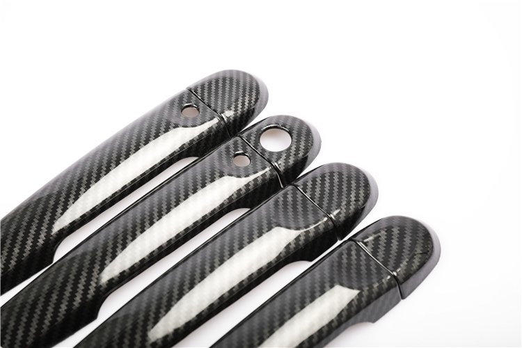 lowest price For Nissan JUKE 2010-2019 Luxurious Chrome Carbon Fiber Door Handle Covers Accessories Stickers Car Styling  Car Decal
