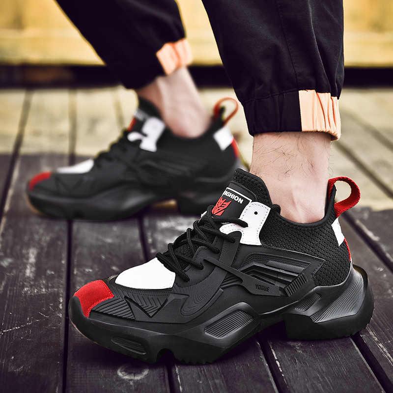 Moda açık erkekler spor ayakkabı yüksek kaliteli marka rahat nefes ayakkabı örgü yumuşak koşu tenis erkek ayakkabı Zapatos De Hombre