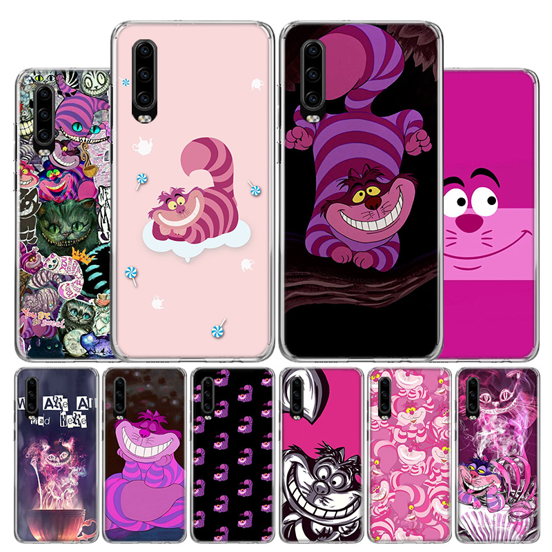 Cheshire cat <font><b>Phone</b></font> <font><b>Case</b></font> For <font><b>Huawei</b></font> P30 P40 P20 P10 Mate 30 20 10 <font><b>P</b></font> <font><b>Smart</b></font> Z Lite Pro Plus + <font><b>2019</b></font> Cover Coque Shell image