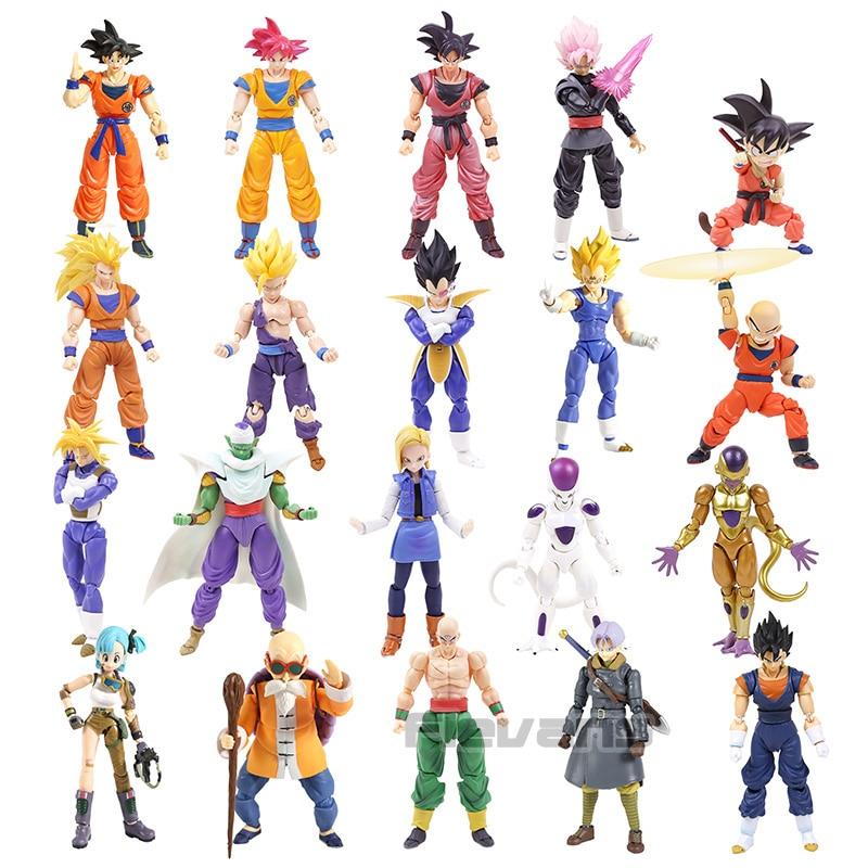 Dragon Ball Z SHF Master Roshi Bulma Goku Trunks Vegetto Vegeta Freeza Gohan Krillin Piccolo Android NO.18 PVC Action Figure Toy(China)