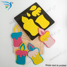 Candle Home Party Pendant DIY wood moulds die cut accessories wooden  MY7985