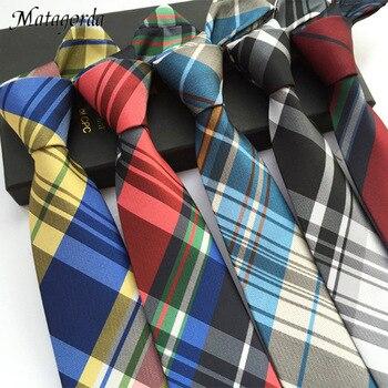 Man Necktie 6cm Skinny Gravata Striped Plaid Neck Tie Fashion Silk Tie Jacquard Business Wedding Party Neckwear Dress Accessory