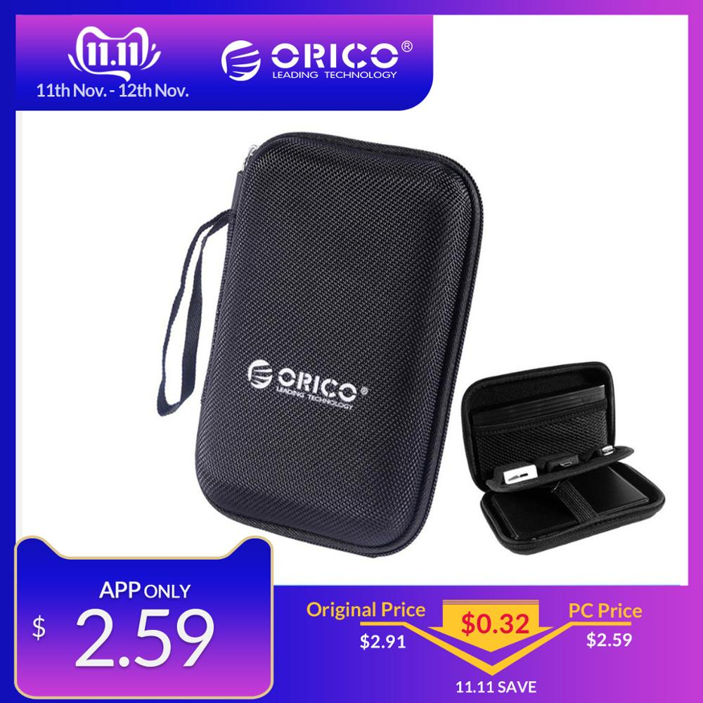 ORICO 2.5 HDD Inch Hard Drive Bag Proctect Mini Size Laptop USB Case External Hard Disk Pouch Bag For WD Seagate/Samsung SSD Box