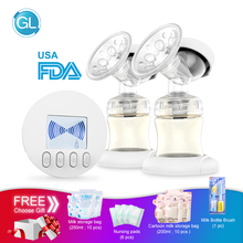 GL Double Electric Breast Pump Automatic Massage Lactation Intelligent Rechargeable Portable USB