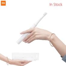 في المخزون شياو mi mi jia T100 mi فرشاة الأسنان الكهربائية الذكية 30 يوم آخر آلة 46g اثنين من سرعة وضع التنظيف ل Fa mi ly أفضل هدية
