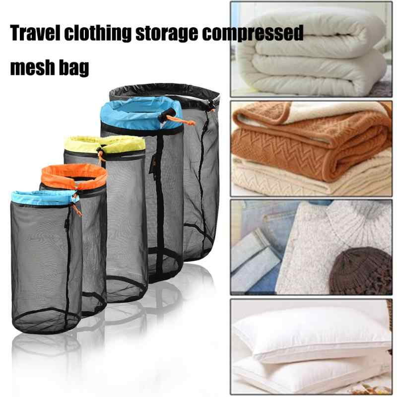 Camping Stuff Clothes Tool Traveling Organizer Outdoor Sports Mesh Storage Bag