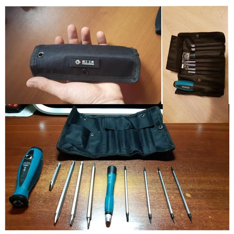 Купить с кэшбэком 10Pcs/Set Precision Screwdriver Set Phillips Slotted Star With Magnetic Multitool Home Appliances Repair Hand Tools