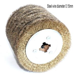 Image 4 - 1 piece Stainless Steel Wire Brush Wheel Wood Open Paint Polishing Deburring Wheel for Electric Striping Machine
