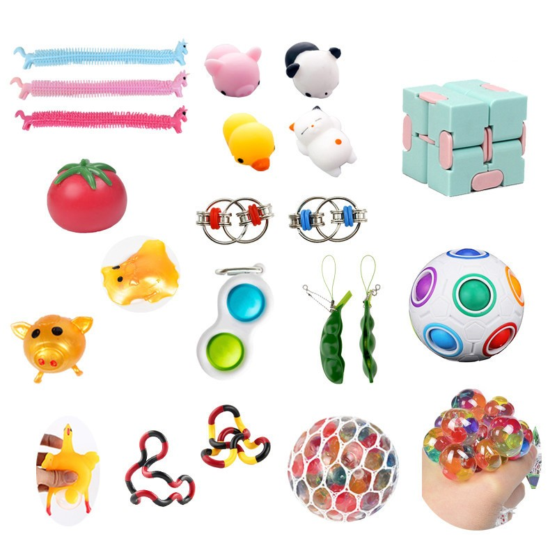 Fidget-Toys Gift-Pack Anti-Stress-Set Relief Sensory Squishy Popit Adults Stretchy Strings img2