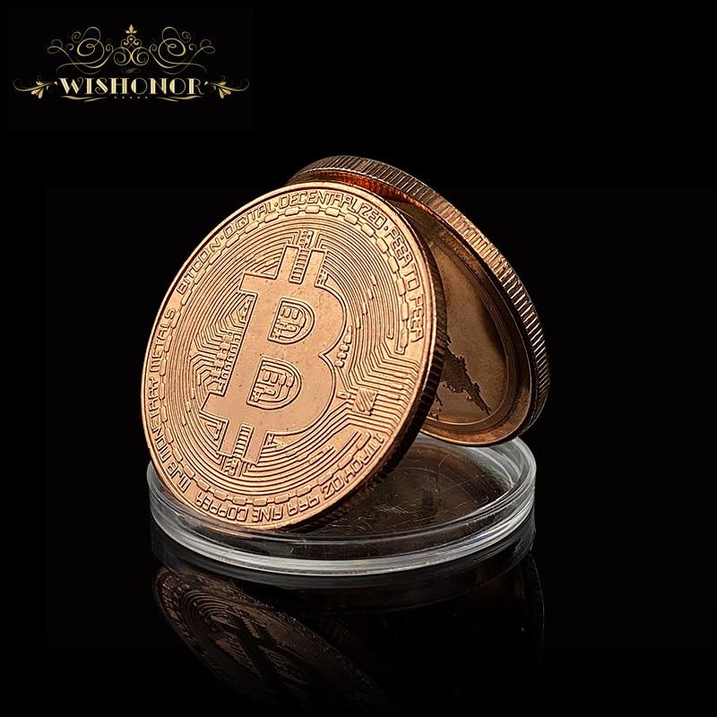 Новинка Биткоин, эфириум, литекоин, Пульсация, портативная монета, EOS, металлическая физическая медь, позолоченная памятная монета Биткоин