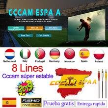 Испания Cccam espa сервер hd стабильная Европа clines 8 линия Португалия/Польша/Италия ccam 1 год 2 год ТВ cinebox спутниковый рецептор