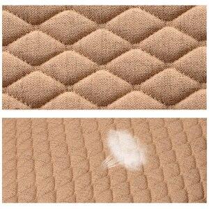 Image 5 - Keten araba klozet kapağı dört mevsim ön arka keten kumaş yastık nefes koruyucu Mat Pad oto aksesuarları evrensel boyutu