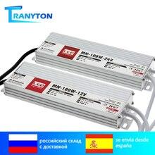 Sterownik LED DC12V 24V IP67 wodoodporne oświetlenie transformatory na światło zewnętrzne 12V zasilacz 10W 20W 30W 45W 60W 100W 200W 300W
