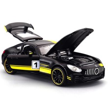 1:32 Mercedes-Benz AMG GT3 Alloy Diecast Model Sound &Light Pull Back Toy Car Free Shipping Real Meachine радиоуправляемая игрушка hoffmann mercedes benz sls amg gt3 1 16 47947