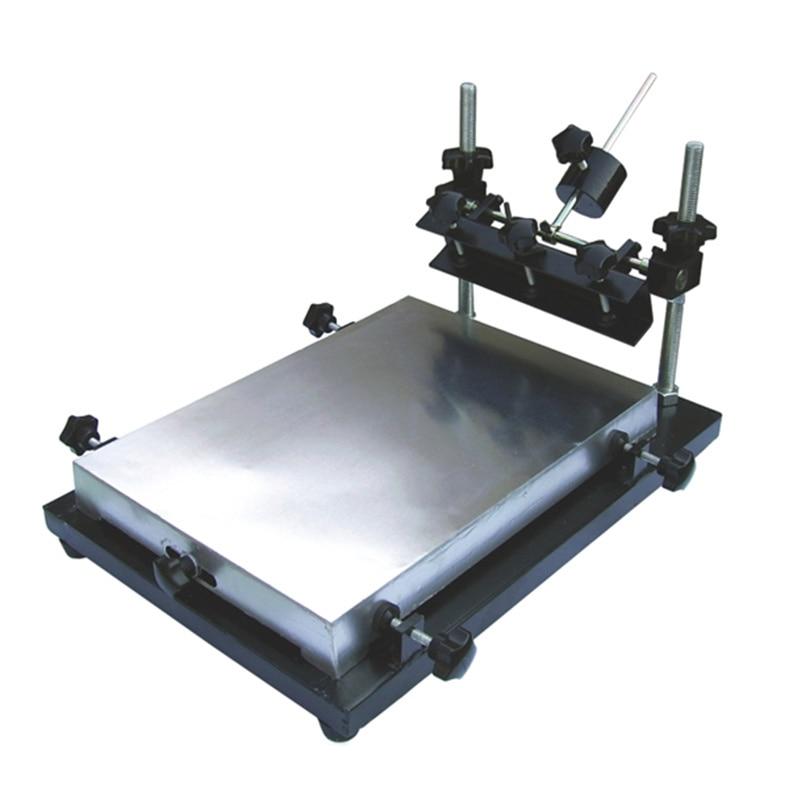 Новый ручной принтер для нанесения паяльной пасты или клея на печатные платы, печатный станок PCB размер М 440x320 мм стол для трафаретной